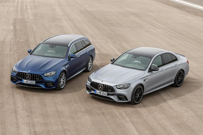 Решетка Panamericana, арочные колесные арки: Mercedes обновил седан и универсал 2021 AMG E 63