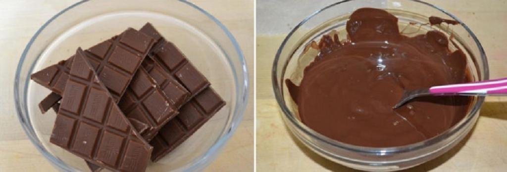 Самодельное тесто обжариваю в масле и окунаю в темную и белую глазурь: простой и бюджетный тортик