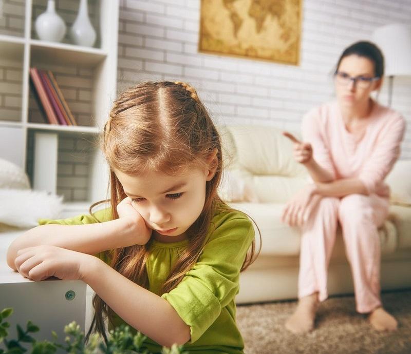 Мама ругает ребенка в картинках