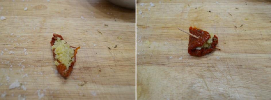 Сушеные помидоры само по себе достойное лакомство, но с моей начинкой из хлеба и сыра - вообще огонь: делюсь рецептом