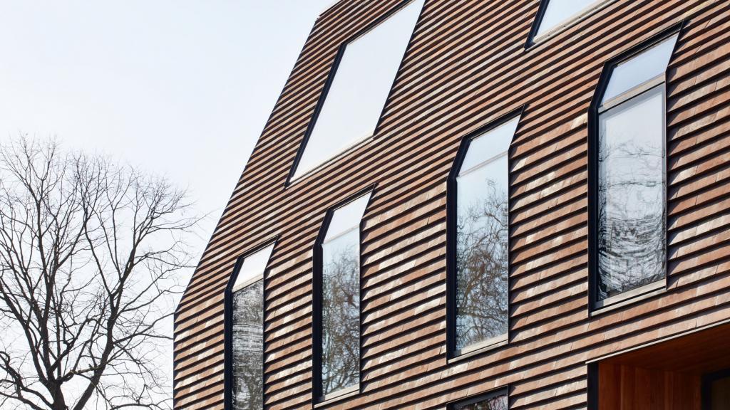 Ловко придумали: что будет, если черепицей отделать не только крышу, но и весь фасад (фото)