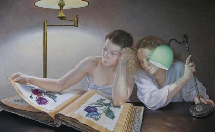 Невероятно живые рисунки о праздности бытия от французской художницы Франсин ван Хов