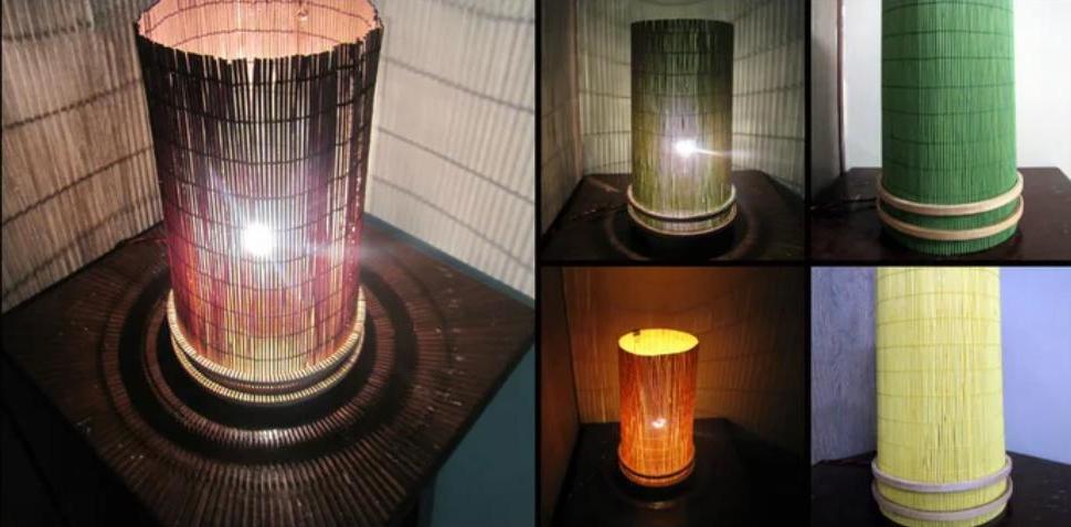 Как из обычной циновки и пялец сделать стильный светильник с приглушенным светом: простая инструкция