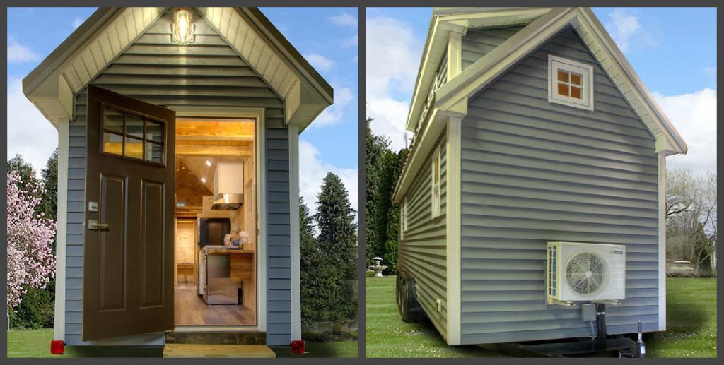 Мой отец спроектировал этот крошечный домик: внутри есть все необходимое, и даже второй этаж