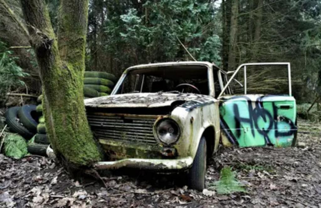 Что будет, если оставить машину на много лет? Все видно на фото