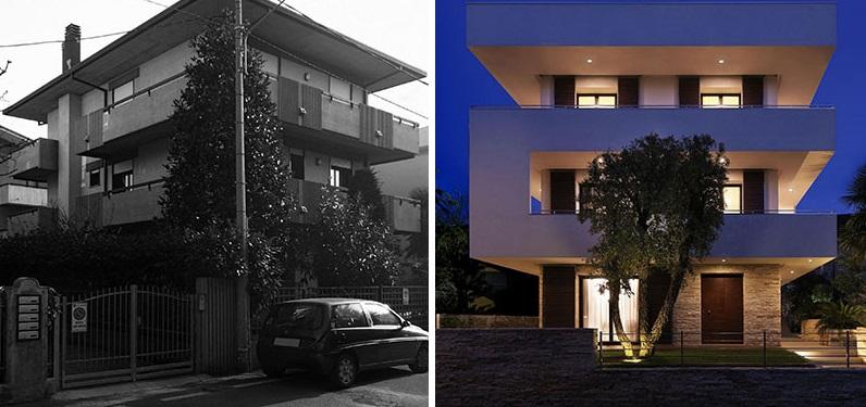 Небольшой частный дом в итальянском городке ничем не выделялся среди прочих. После ремонта его огромные балконы стали привлекать внимание прохожих