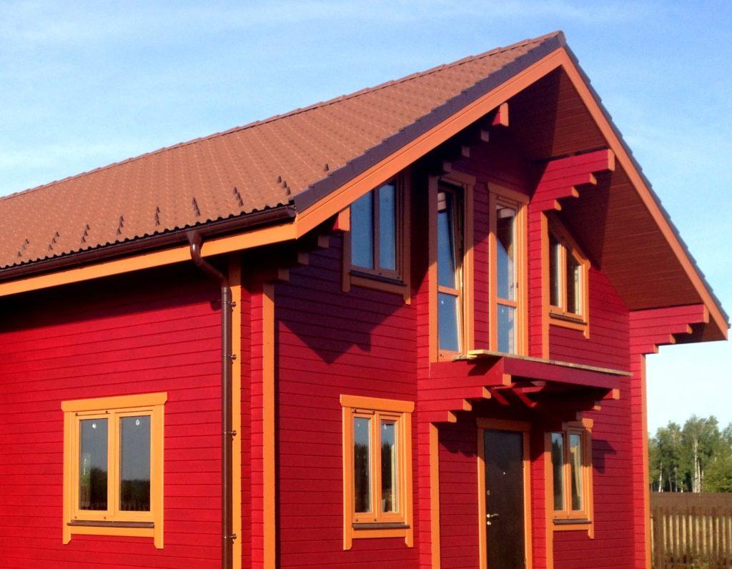 Деревенский дом покраска фасада цвета с фото любом случае