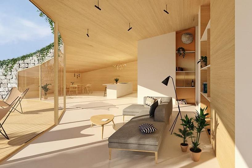"""Архитектор спроектировал """"дом в холме"""", который должен располагаться в Краковских долинах Польши. Большая часть строения скрыта под землей, а вокруг - природа (фото)"""