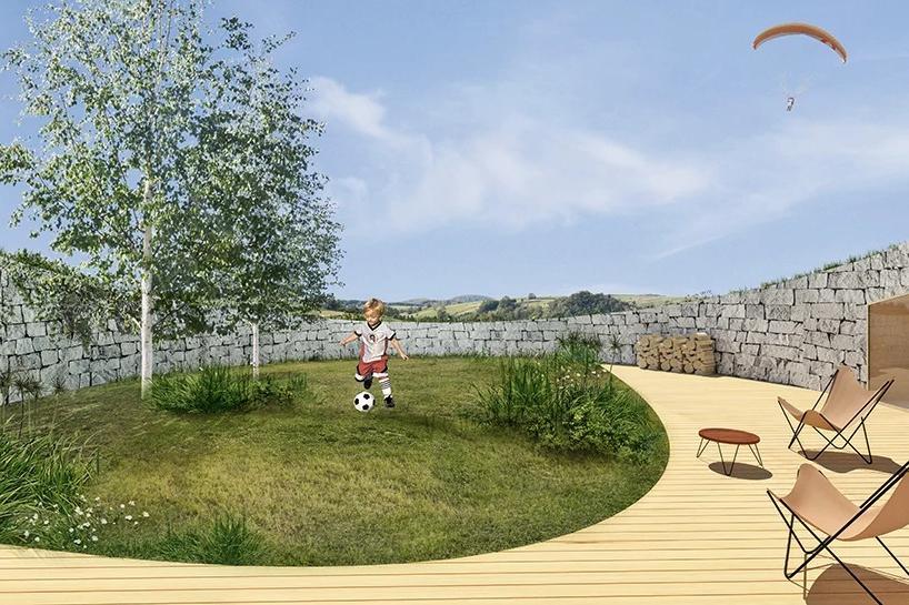 """Архитектор спроектировал """"дом в холмике"""", который должен размещаться в Краковских равнинах Польши. Большая часть строения укрыта под землей, а вокруг - природа (фото)"""