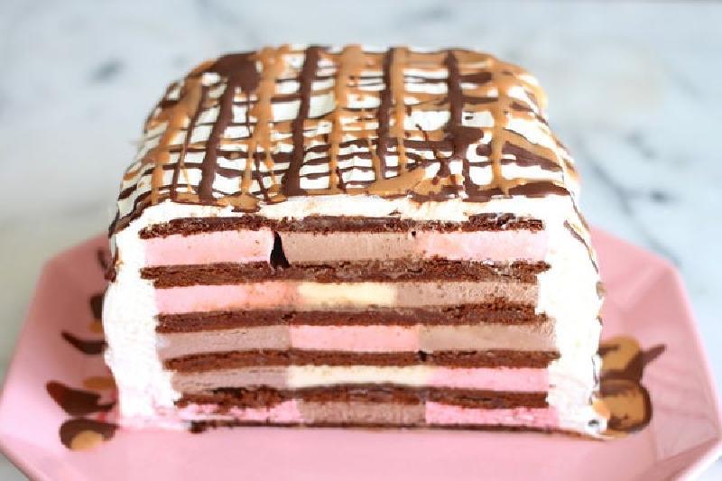 Готовится проще простого: на десерт сделала освежающий тортик-мороженое 20