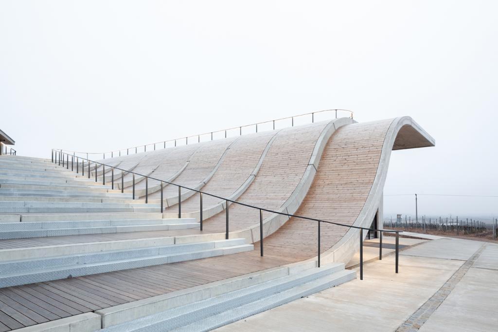 Архитекторы превратили крышу чешской винодельни в прогулочную зону, с которой можно полюбоваться окрестностями: вид просто фантастический