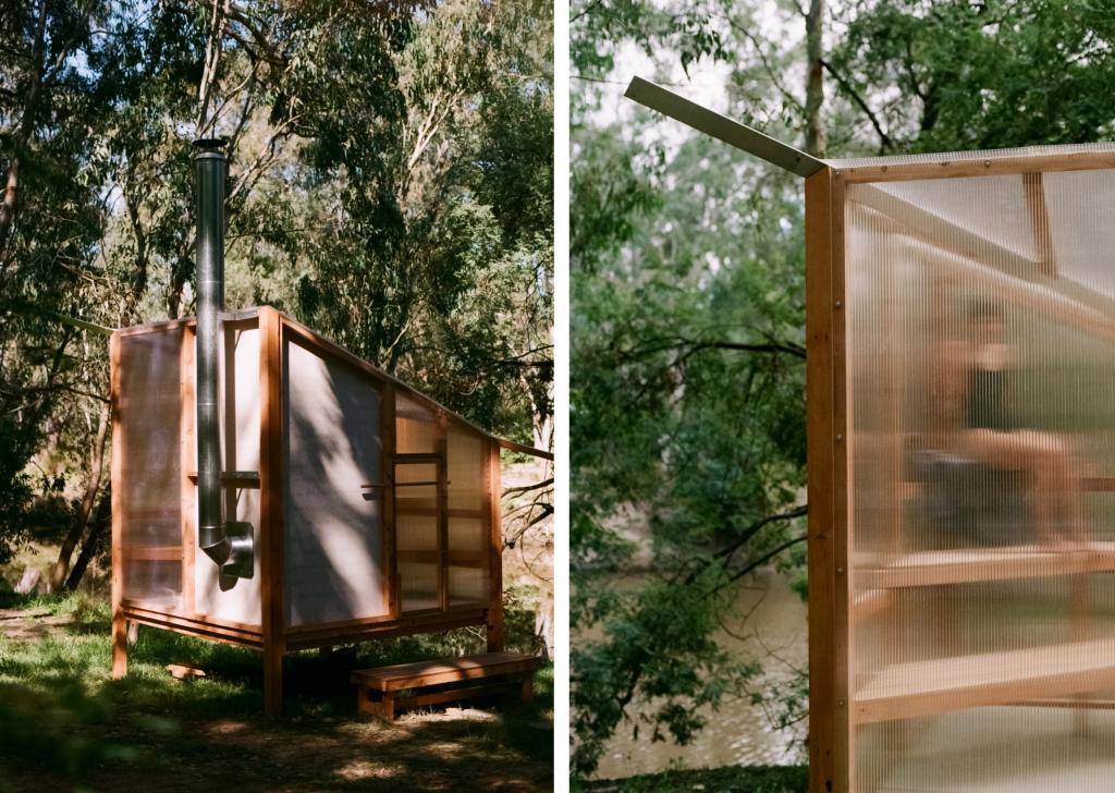 Дизайнеры построили баню на берегу реки. Такую можно сделать даже самому