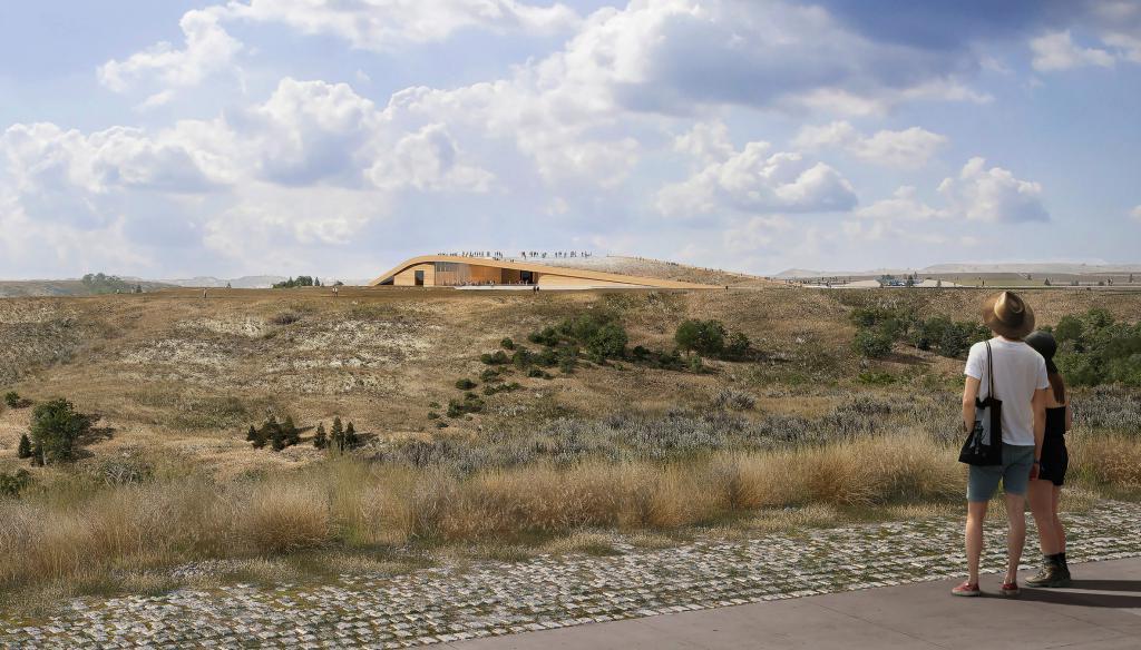 Дизайнеры спроектировали здание президентской библиотеки имени Теодора Рузвельта. Она находится посередине пустыни. Фото проекта