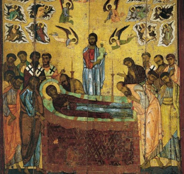 Апостолам явилась Матерь Божия и сказала: «Радуйтесь! Я с вами – во все дни»: 28 августа Успение Пресвятой Богородицы (иконы, молитвы)