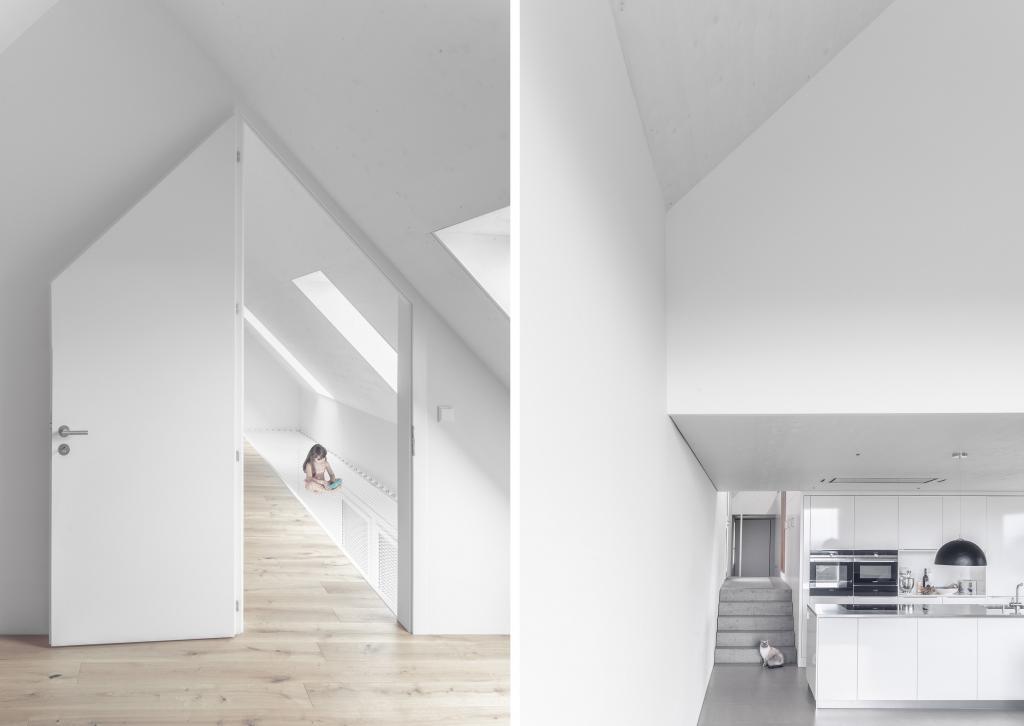 """Швейцарская архитектурная студия спроектировала необычный дом с асимметричными фронтонами и """"завернула"""" его в угловую глиняную плитку"""