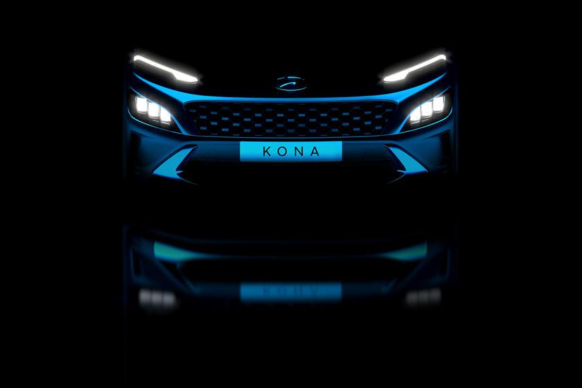 Это выглядит потрясающе: компания Hyundai показала тизер обновленного кроссовера Kona