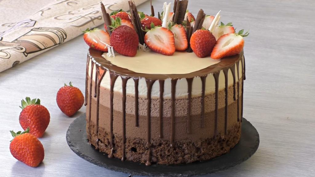 """Подруга подала на десерт торт """"Три шоколада"""": он меня покорил сразу же, и я выпросила рецепт"""