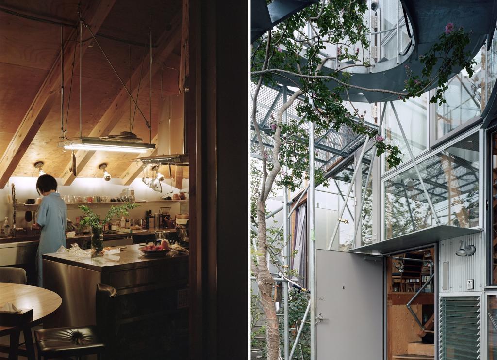 Прохожим может показаться, что дом на реконструкции. Но нет, такова задумка дизайнеров