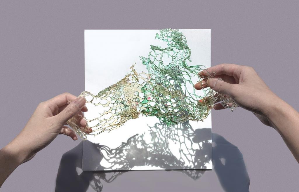Британский дизайнер в лаборатории вырастила платье из водорослей. Оно разлагается в течение нескольких часов