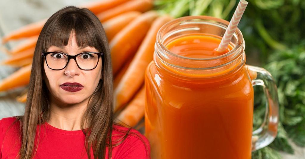 Сияние кожи и еще две весомые причины пить морковный сок натощак (чтобы он лучше усваивался, нужно добавлять в него ложку масла)