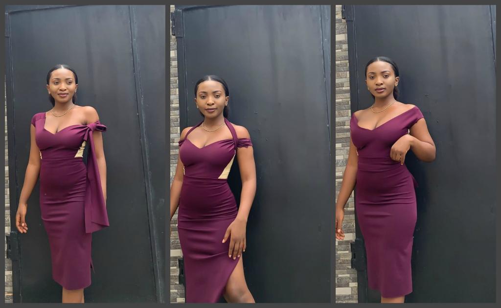 Молодая девушка-модельер показывает платья, которые сочетают в себе минимум три модели