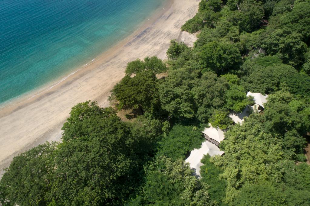 В Коста-Рике появился отель, номера которого при взгляде сверху похожи на гигантские палатки, установленные прямо посреди леса (фото)