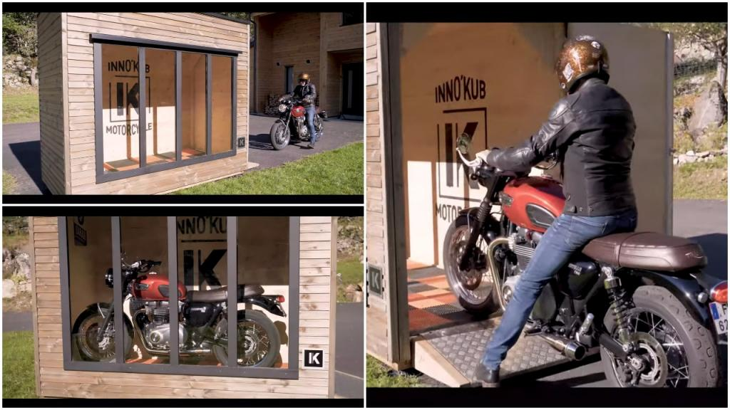 Гараж-аквариум: как защитить ваш мотоцикл от непогоды и одновременно похвастаться им