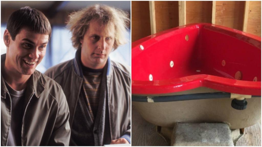 Ванна в форме сердца из фильма «Тупой и еще тупее» выставлена на продажу: цена раритета - 7500 $