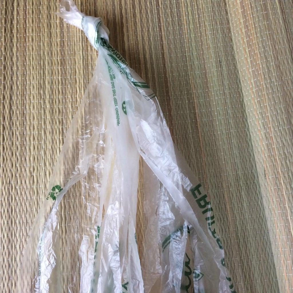 Пакета с пакетами у меня нет - вяжу из продуктовым сумок стильные корзины (фото)