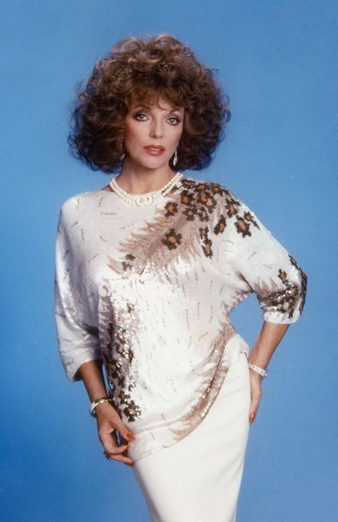 Сияющая Джоан Коллинз всегда задавала тренды. Винтажные фото 1980 года доказывают это
