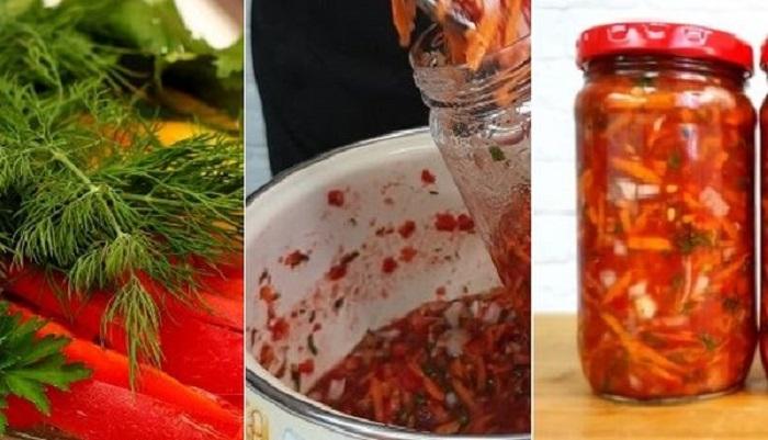 Готовлю вкуснейшую овощную заправку для борщей и супов без уксуса: главное, ее варить не нужно