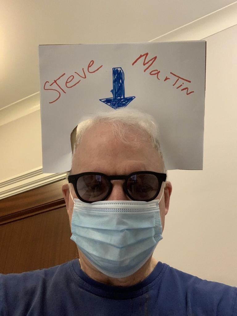 «Я подумал о проблеме и решил ее!»: Стив Мартин пошутил, что его не узнают из-за маски