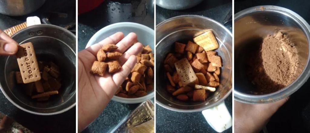 Бисквит готовлю из печенья, а глазурь – из пористого шоколада: пирог получается сочным и очень вкусным