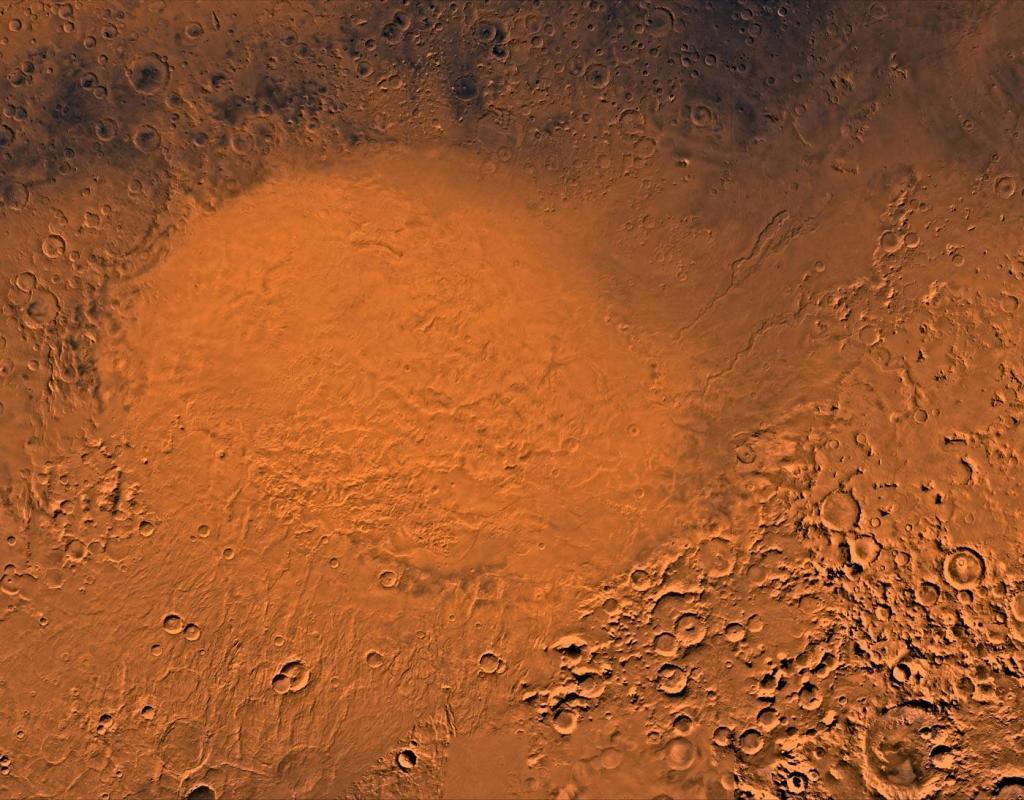 Исследователи обнаружили сеть соленых озер под ледниками на Марсе