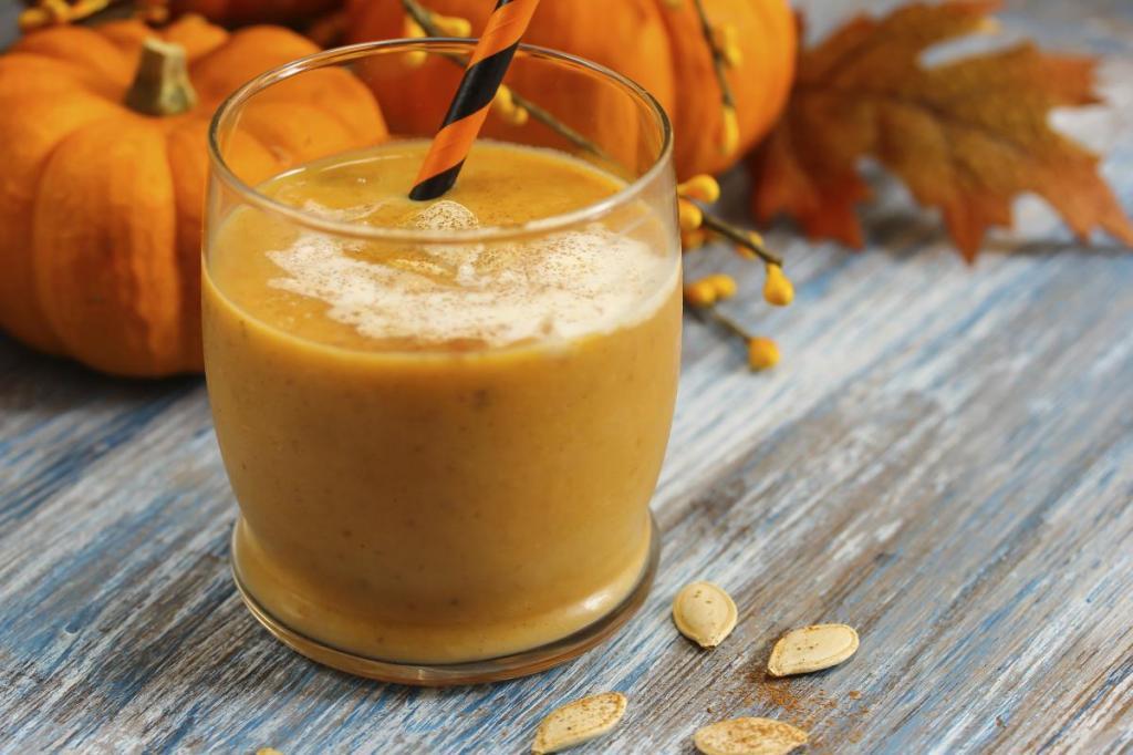 Тыквенный коктейль без сахара и лактозы: полезное лакомство с нежным медовым вкусом