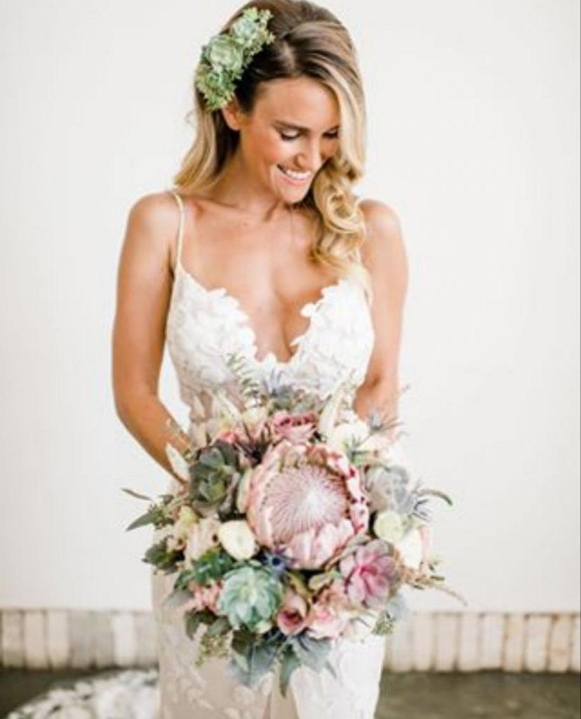 Свадебные букеты из суккулентов: как выглядят композиции, украшающие невесту