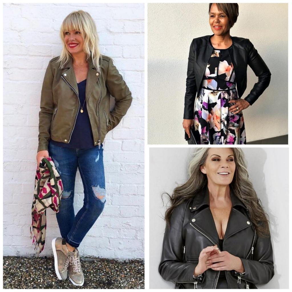 Стилисты советуют носить кожаные куртки в любом возрасте