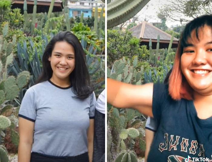 Девушки с чувством юмора: пользователи TikTok показали, как выглядели в школе и какими они стали сейчас (фото)