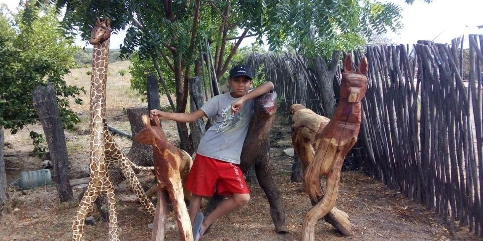 Мальчик с детства занимается ремеслом по дереву. Труд 13-летнего мастера отметили стипендией для изучения искусства