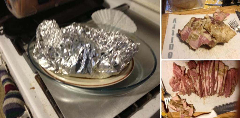 Пирог, который накормит всю семью: под хрустящей корочкой находится запеченное мясо, лук, сыр, картофель и другие овощи