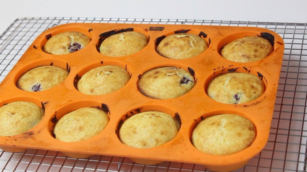 Ежевичные кексы на кукурузной муке: вкусный ягодный десерт своими руками