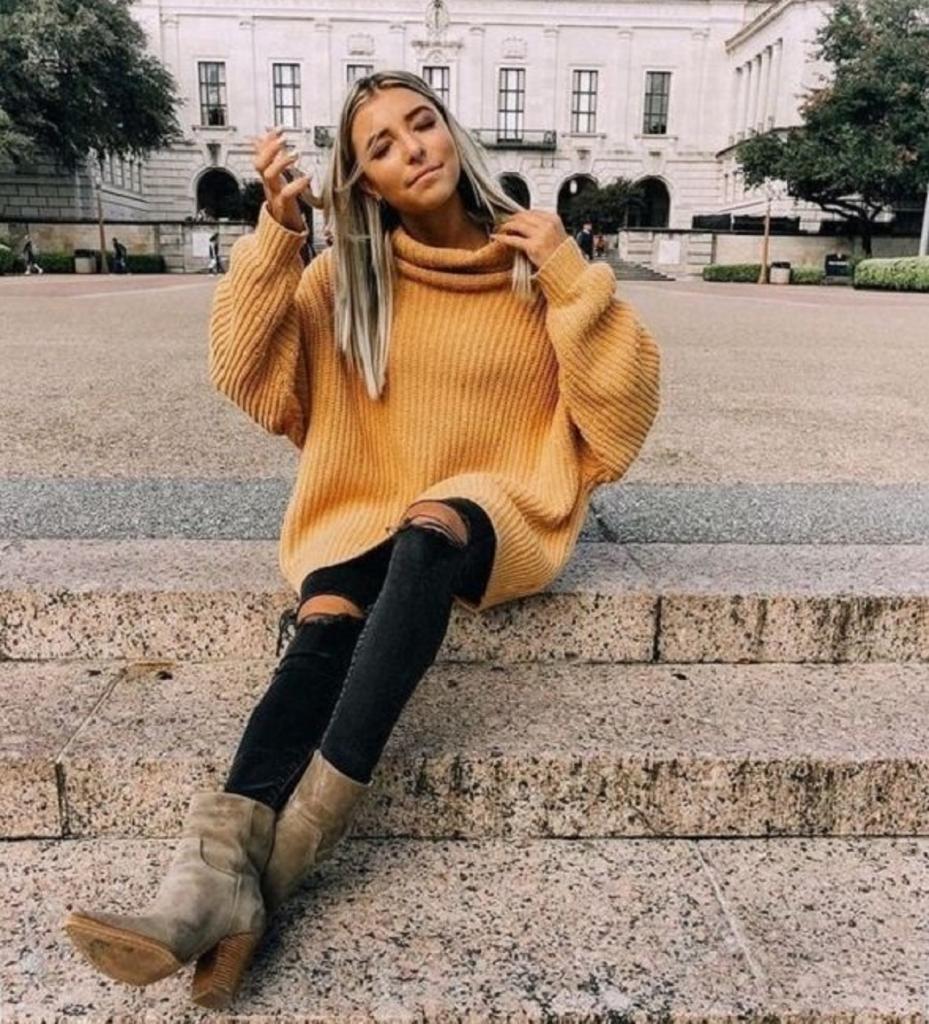 Как выглядеть потрясающе в объемном свитере: 9 вариаций для осени и предстоящей зимы