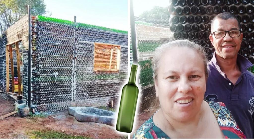 Пара из Бразилии построила экологичный дом из 10 000 бутылок: фото