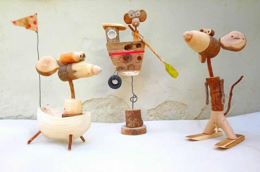 """""""Рукастый"""" грек превращает деревяшки и ненужные вещи в милых мультяшных героев и другие предметы"""