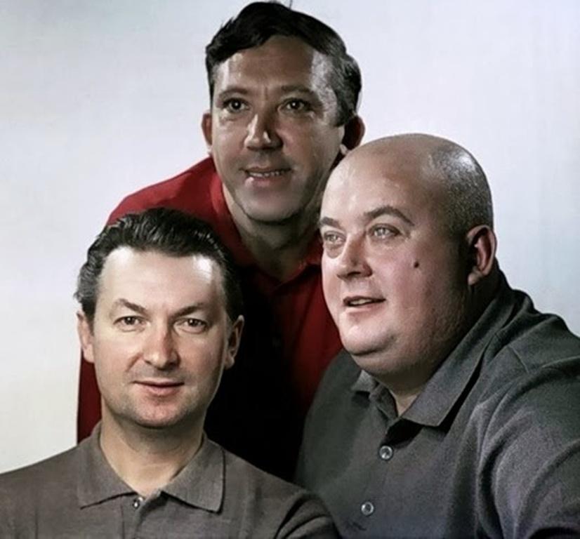 Неразлучная, любимая зрителями знаменитая троица. Нашла в Сети их последнее совместное фото, 1995 год
