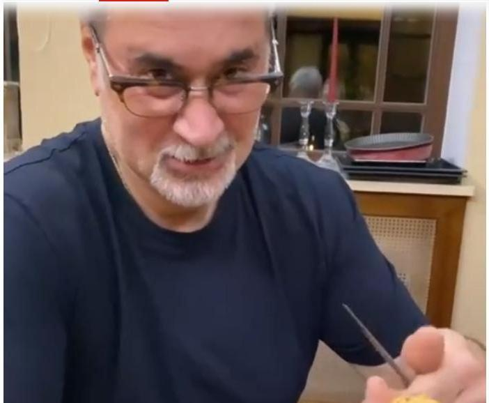 """""""Муж дома, ужин готовит"""": Джанабаева показала, как  Меладзе чистит картошку"""