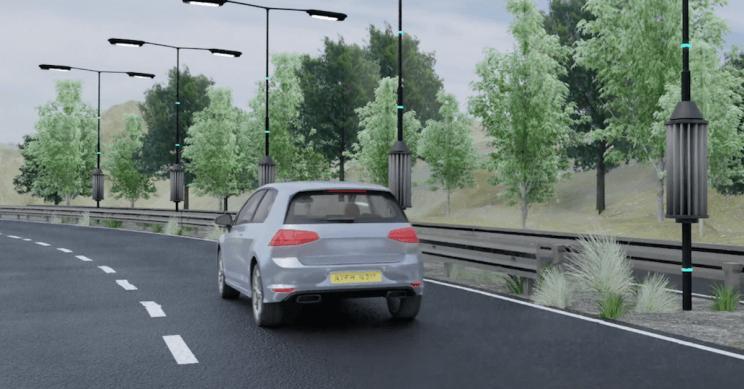 Ветряные турбины, которые работают от движения транспорта и питают фонари на дорогах, тестируют в Англии