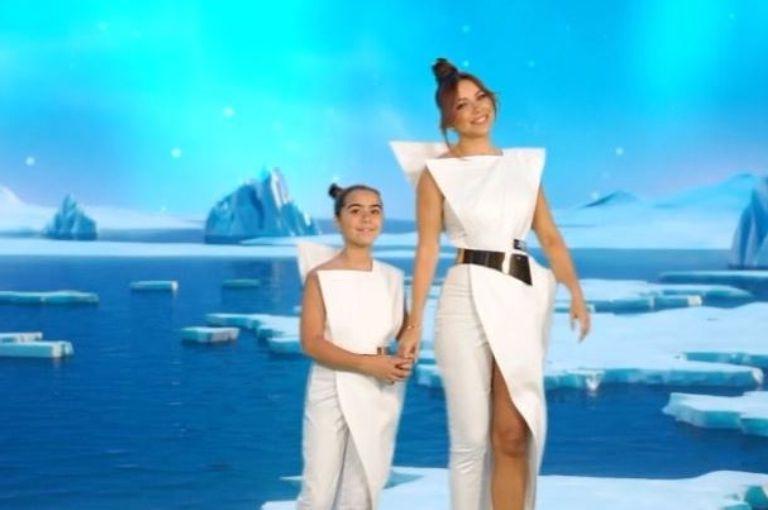 Ани Лорак впервые спела дуэтом с 9-летней дочерью. У Софии очень красивый голос (видео)