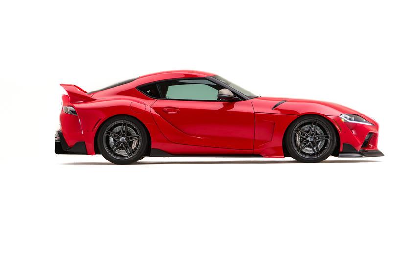 Дебютирует на выставке SEMA360: спорткар Toyota GR Supra получит ретро-топ Targa (новая концепция)