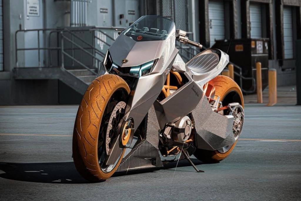 Выглядит как хищник на двух колесах: дизайнер представил новый концепт мотоцикла Lamborghini